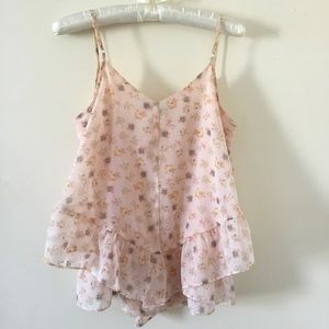 Lauren Conrad pretty floral camisole top